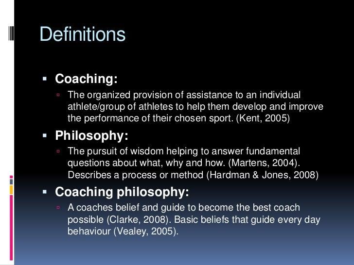 Coaching Philosophy Soccer Coach