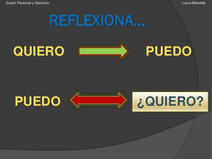 Coach Personal y Ejecutivo                Laura Mansilla                         REFLEXIONA…    QUIERO                    ...