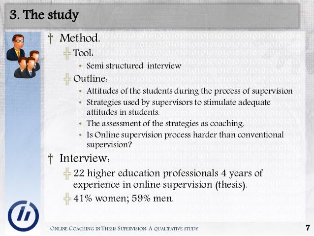 supervision thesis Statement of expectations on supervision and thesis writing at the graduate research school.