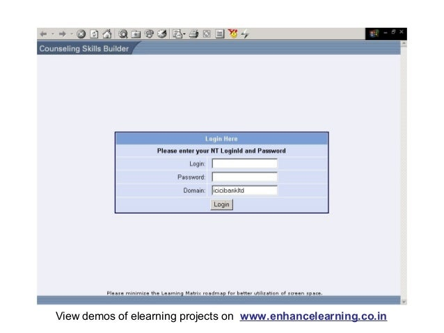 View demos of elearning projects on www.enhancelearning.co.in