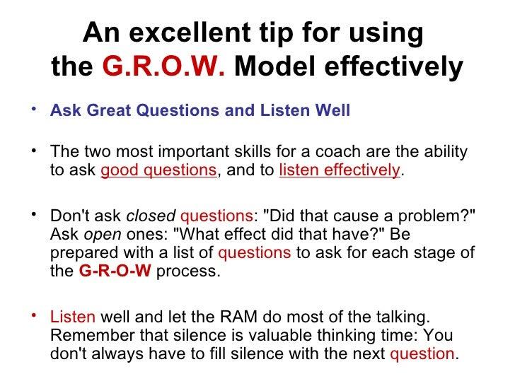Coaching Techniques The Grow Model