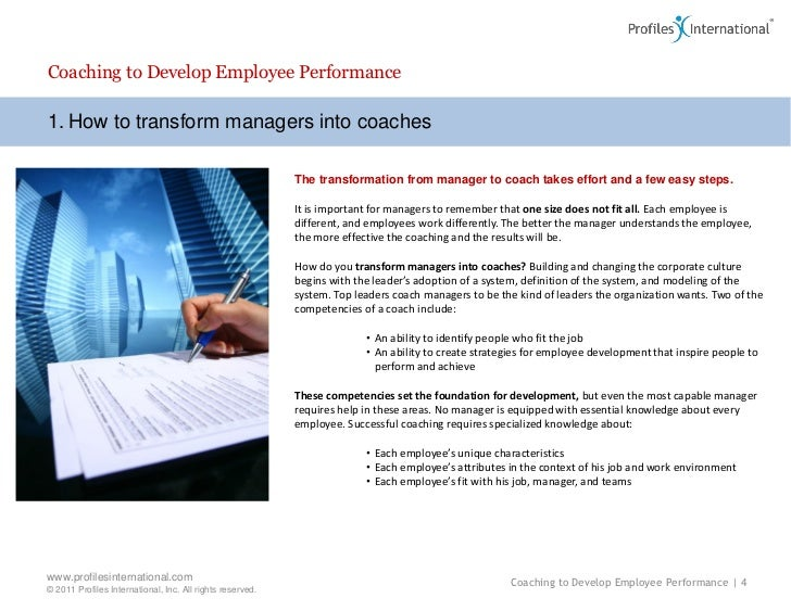 how to coach and develop employees