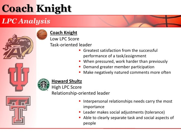 path goal theory and coach knight The path-goal theory is a leadership theory that was developed in the '70s of the last century by american management guru and expert in the field of leadership in various cultures, robert j house and american organisational expert terence r mitchell.