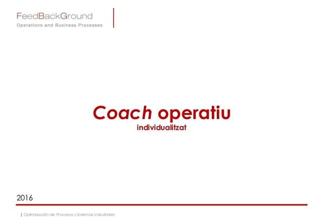Coach operatiu individualitzat 2016 | Optimización de Procesos y Sistemas Industriales