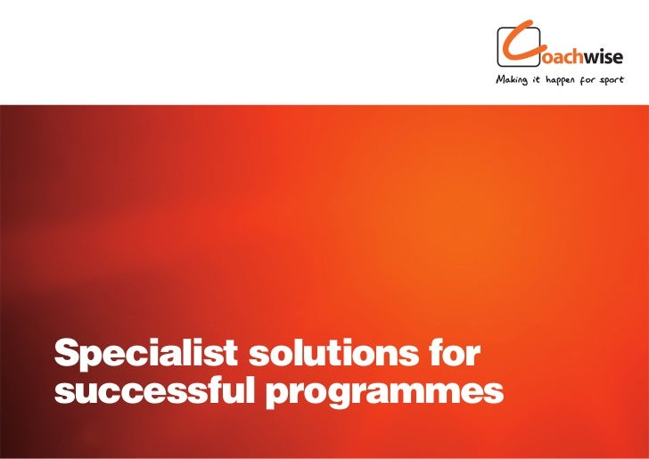 Specialist solutions forsuccessful programmes