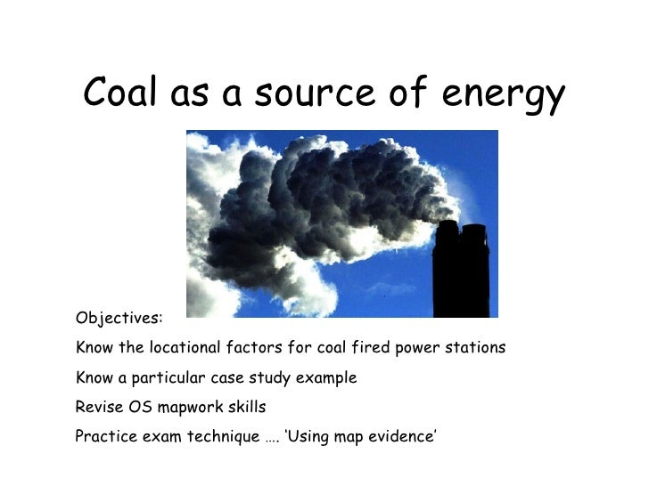 Coal As A Source Of Energy