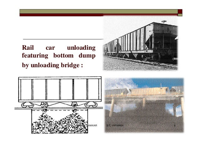 Rail car unloading featuring bottom dump by unloading bridge : 9VANITA THAKKAR BIT, VARNAMA