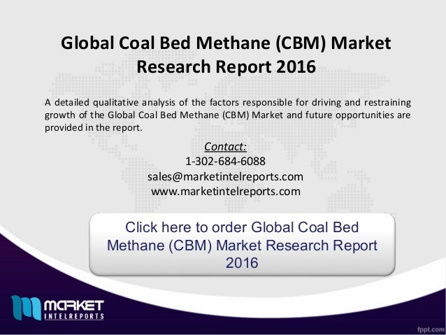 Coal bed methane market size and