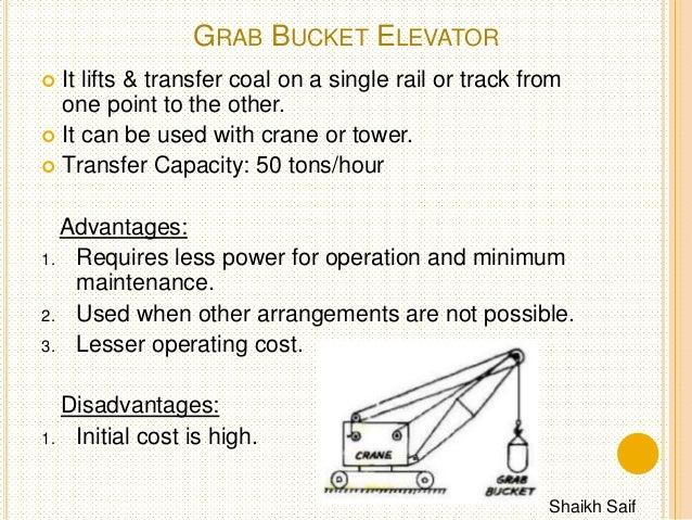 Tower Crane Advantages And Disadvantages : Coal handling system