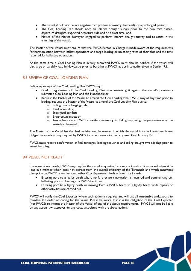 Coal terminal info handbook