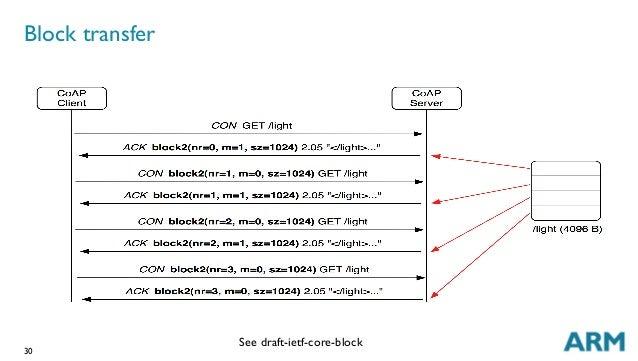 30 Block transfer See draft-ietf-core-block
