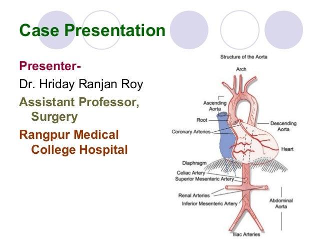 Case Presentation PresenterDr. Hriday Ranjan Roy Assistant Professor, Surgery Rangpur Medical College Hospital