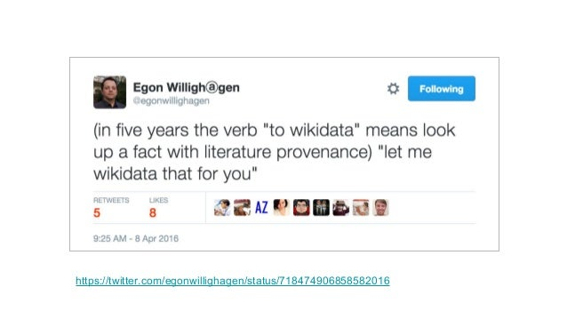 WikiCite: goals Build a repository of all Wikimedia citations and bibliographic metadata Design data models and technology...