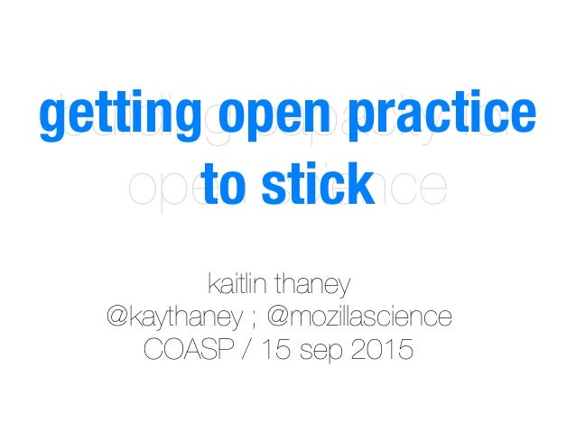 Building capacity for open science - COASP Meeting Slide 2