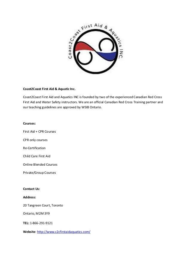 Coast2coast First Aid Aquatic Inc