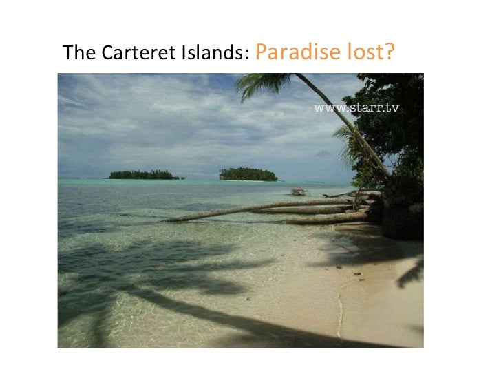 The Carteret Islands:  Paradise lost?