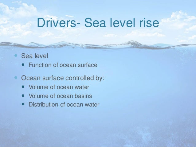 Global warming and sea level rise?