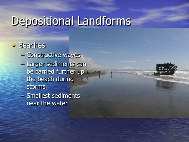 coastal processes and landforms Coastal environments are  coastal processes, as their interaction with the coastal environment to a large extent determines the location of many coastal landforms.