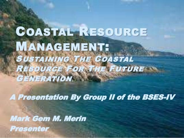 Coastal resource management presentation