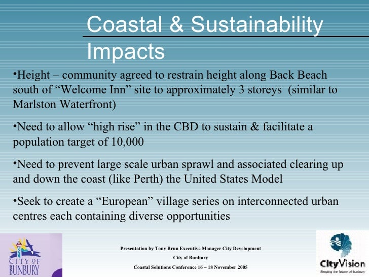 Coastal Solutions 2005 Brun City Vision
