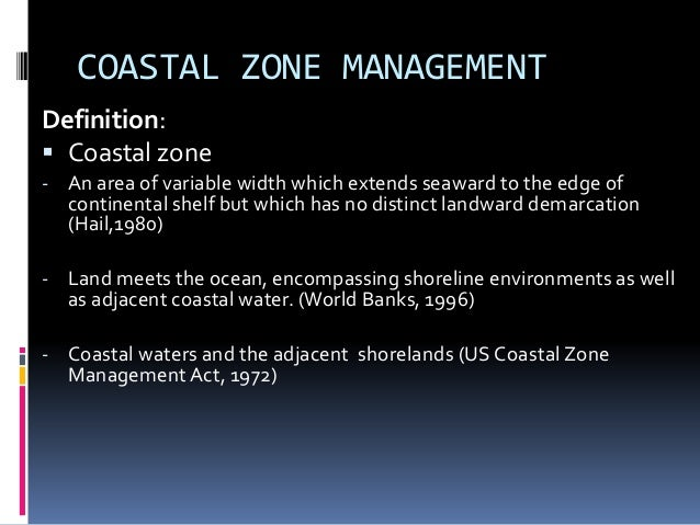 Introduction To Coastal Zone Management