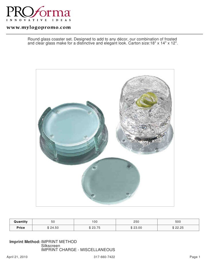 Round glass coaster set. Designed to add to any décor, our combination of frosted               and clear glass make for a...