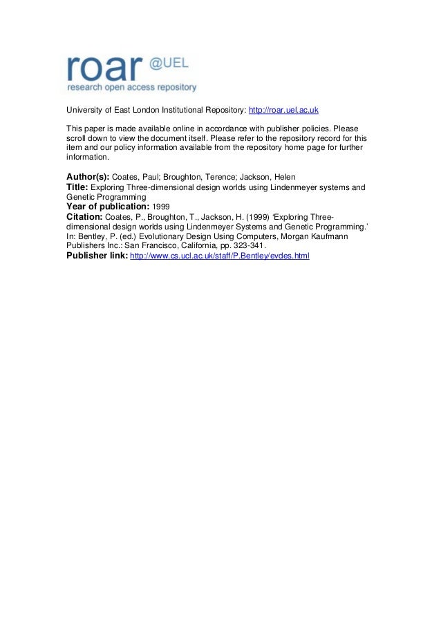 University of East London Institutional Repository: http://roar.uel.ac.uk This paper is made available online in accordanc...