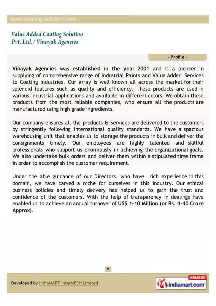 Value Added Coating Solution Pvt. Ltd / Vinayak Agencies, Ghaziabad, GEMA,PARAMOUNT POWDERS Slide 2