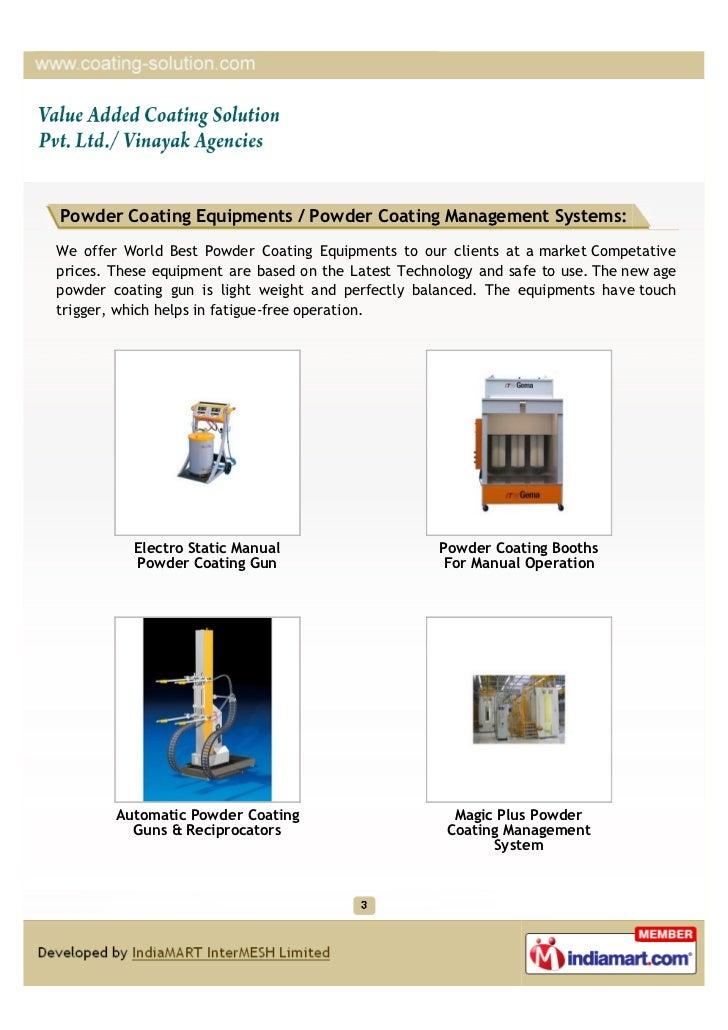 Value Added Coating Solution Pvt. Ltd / Vinayak Agencies, Ghaziabad, GEMA,PARAMOUNT POWDERS Slide 3