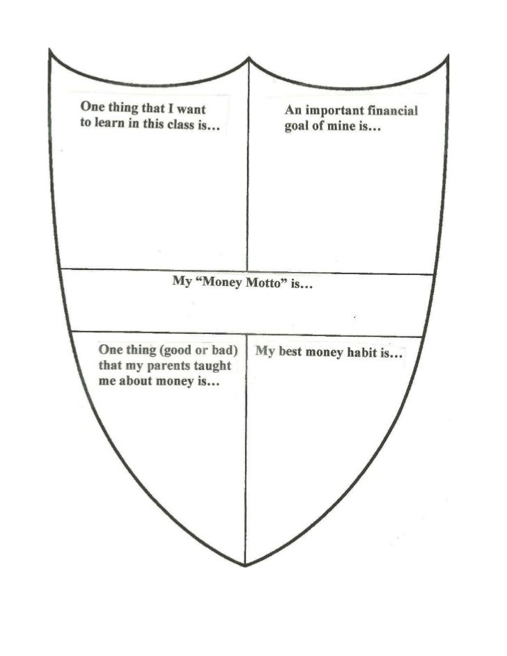 Coat of arms activity personal finance class for Make your own coat of arms template