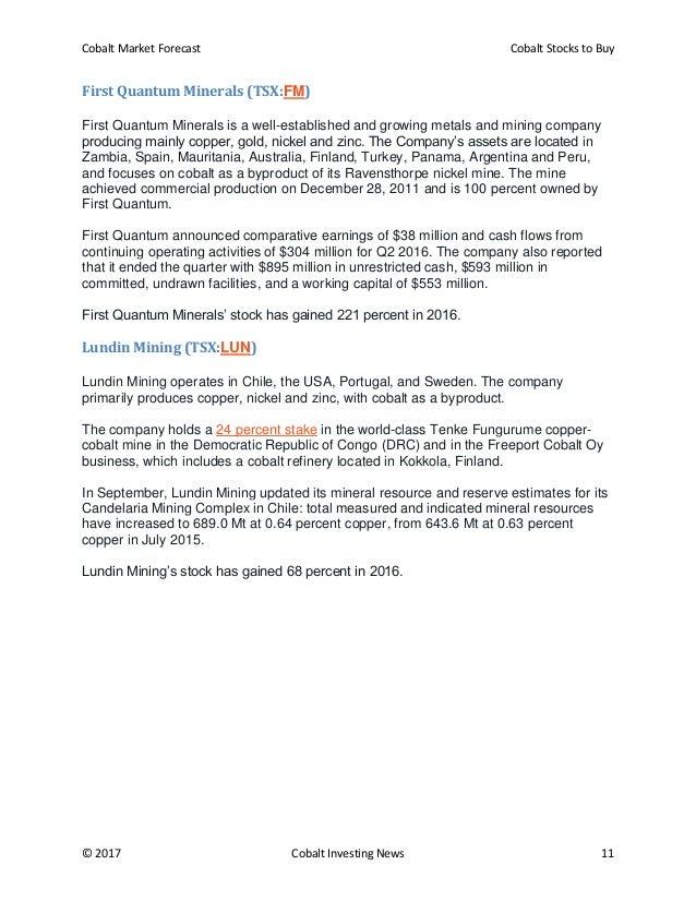 Cobalt market forecast and cobalt stocks to buy