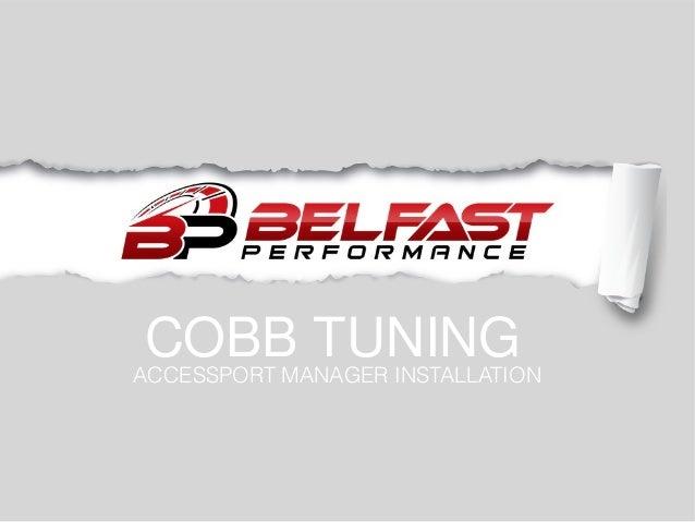 Cobb Accessport Manager Installation
