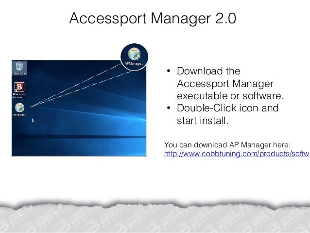 Cobb Accessport Manager Installation