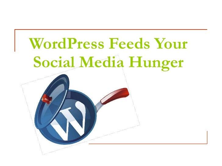 WordPress Feeds Your Social Media Hunger