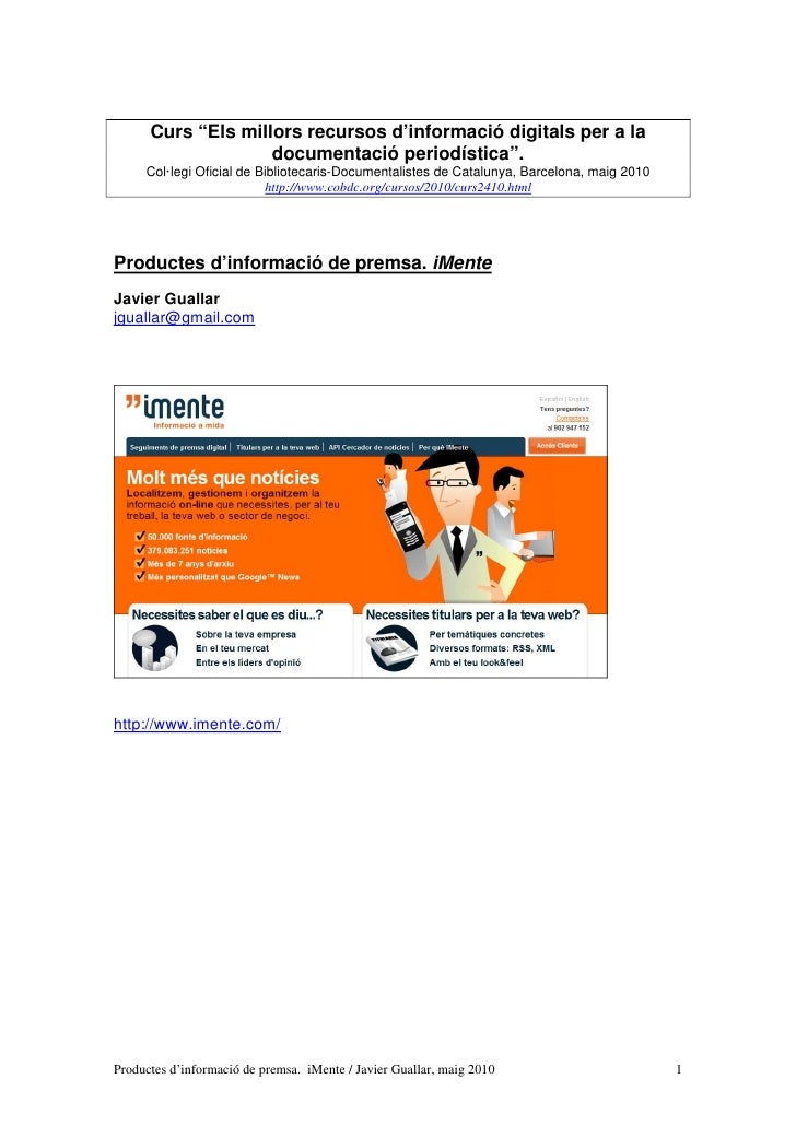 """Curs """"Els millors recursos d'informació digitals per a la                     documentació periodística"""".      Col·legi Of..."""