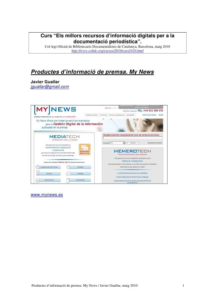 """Curs """"Els millors recursos d'informació digitals per a la                    documentació periodística"""".         Col·legi ..."""