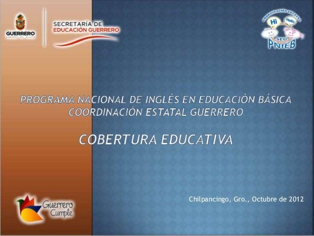 Chilpancingo, Gro., Octubre de 2012