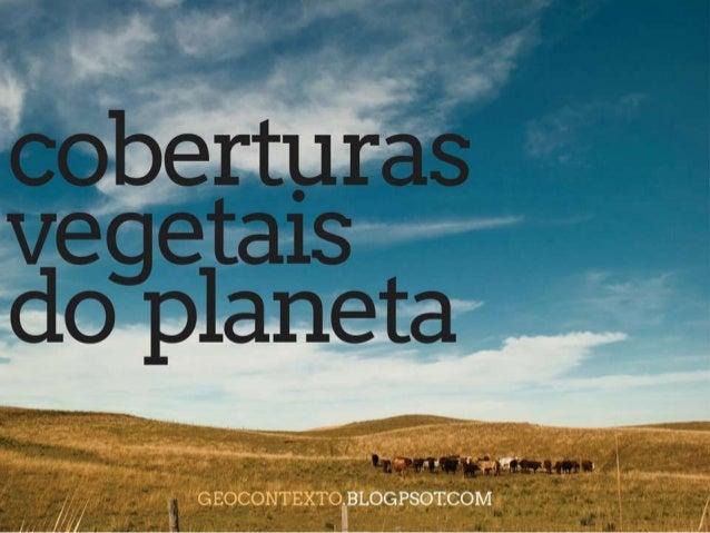 Coberturas vegetais do planeta