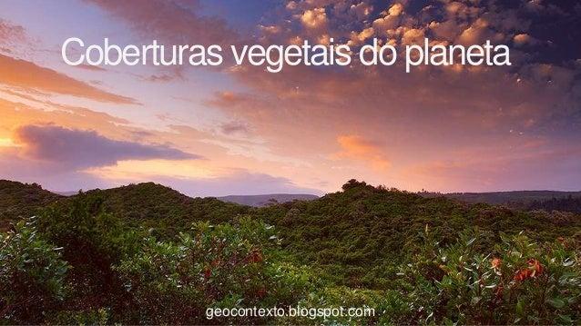 Coberturas vegetais do planeta         geocontexto.blogspot.com