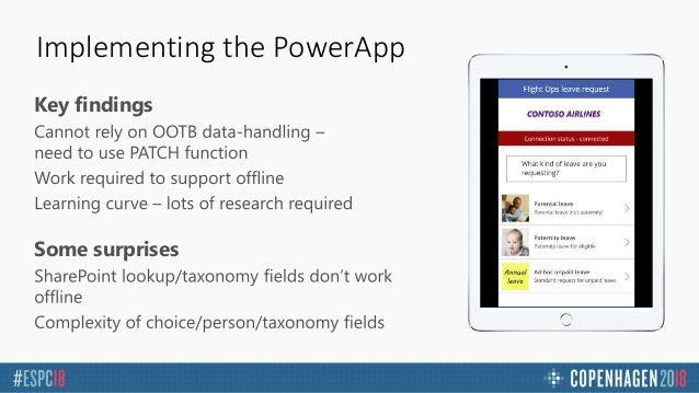 COB ESPC18 - Rich PowerApps with offline support