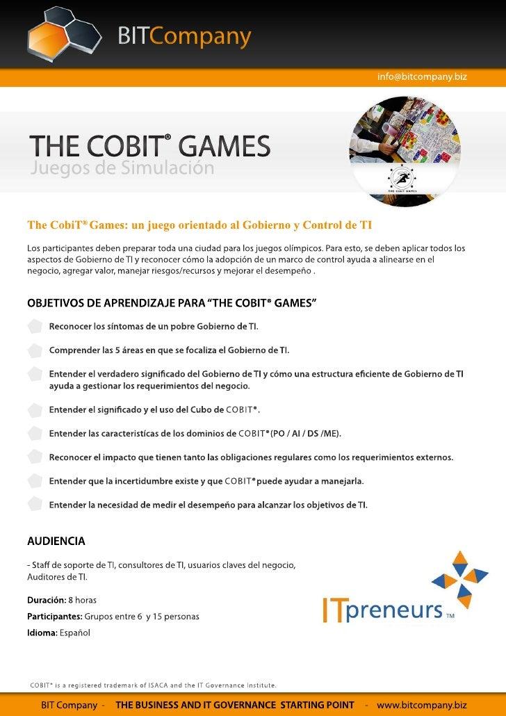 The COBIT Games - Simulacion