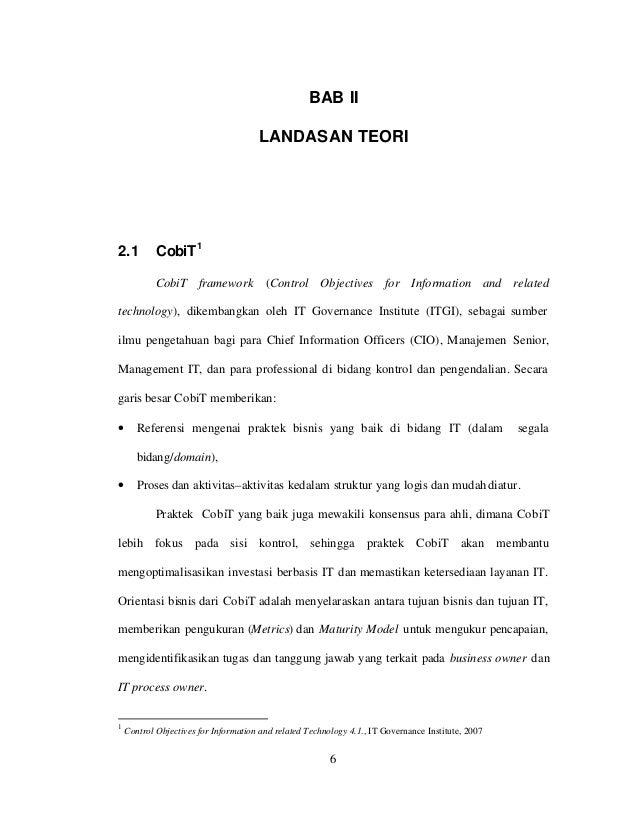 BAB II                                      LANDASAN TEORI2.1         CobiT 1            CobiT framework             (Cont...