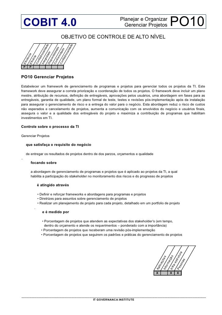 Cobit 4.1 - PO10