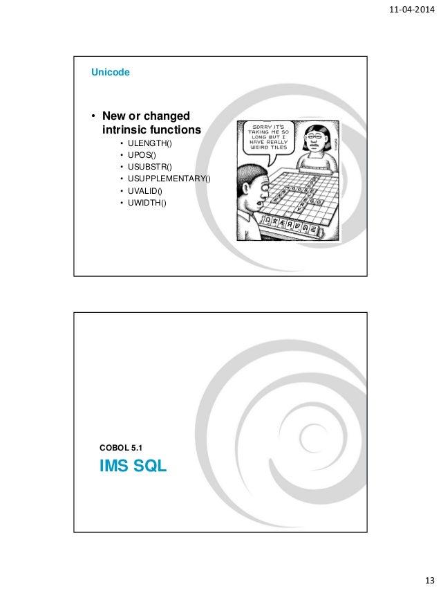 Cobol 5 presentation