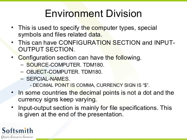 Cobol basics 19-6-2010