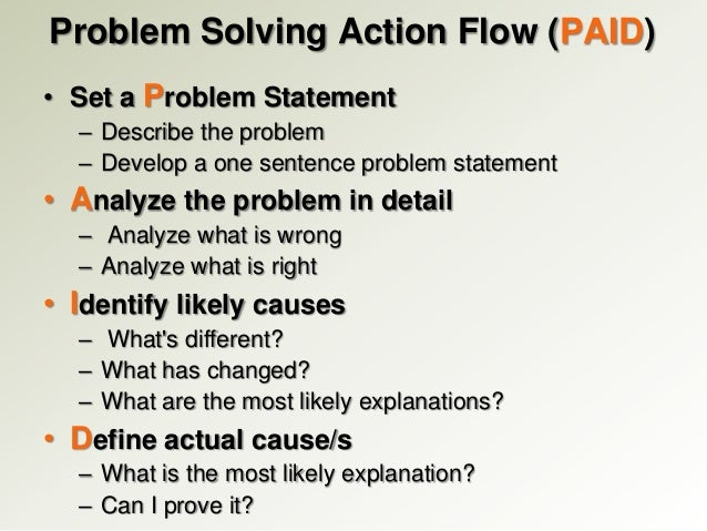 problem solving and action Designing a plan of action what do experts say about the problem 2 roadblocks to problem solving many of us serve as our own roadblocks in solving problems.