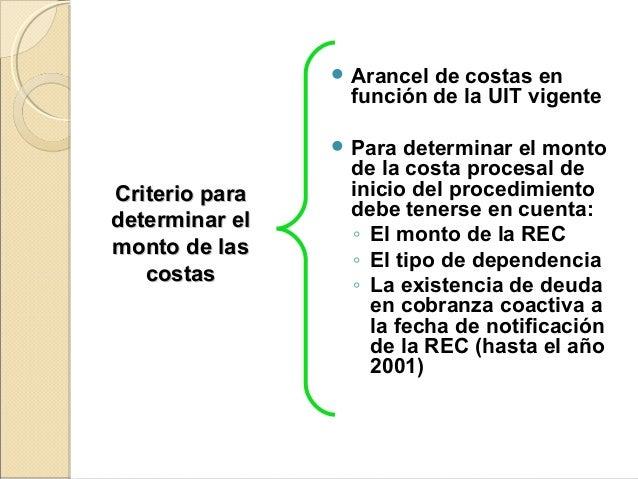 Criterio paraCriterio para determinar eldeterminar el monto de lasmonto de las costascostas  Arancel de costas en función...