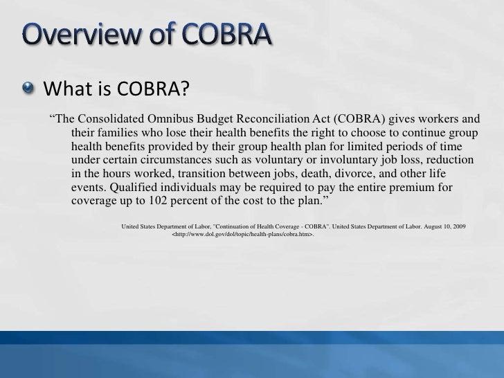 Consolidated Omnibus Budget Reconciliation Act - Provision ...