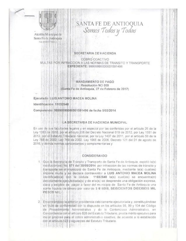 COBRO COACTIVO - LUIS ANTONIO MACEA MOLINA - CC:11032648