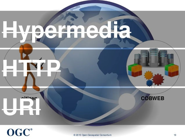 OGC ® © 2015 Open Geospatial Consortium 19 COBWEBcitizen Hypermedia HTTP URI
